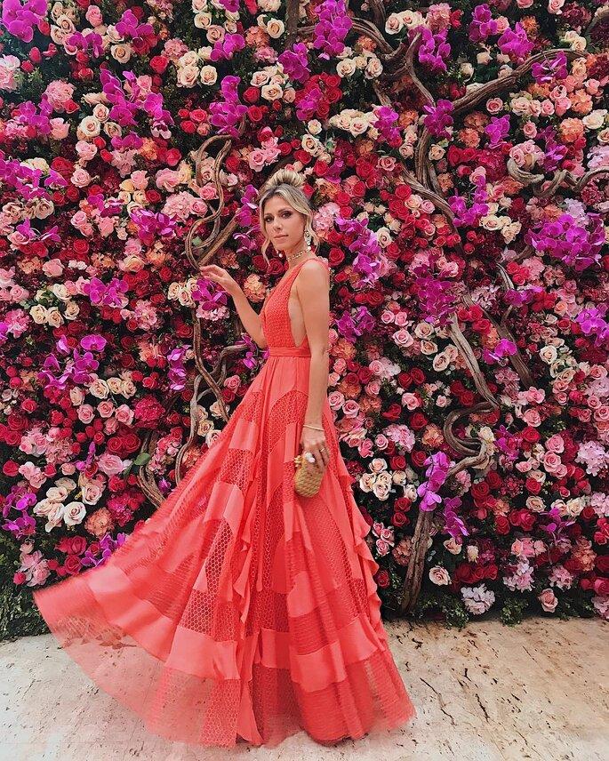 Backdrop de flores casamento Marina Ruy Barbosa