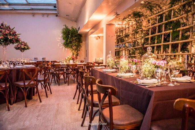 Mobiliário elegante casamento indoor