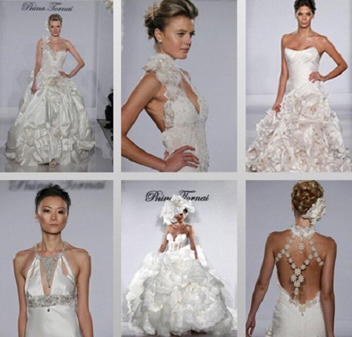 La collezione raffinata di Pnina Tornai presentata sulle passerelle della moda sposa 2012. Foto: www.pnina tornai.com