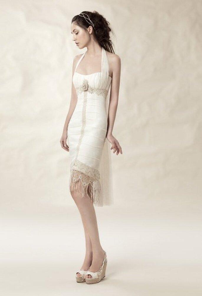 """Modelo """"Marbella"""" con falda desmontada de José M° Peiró for White Day. Foto: www.whiteday.es"""