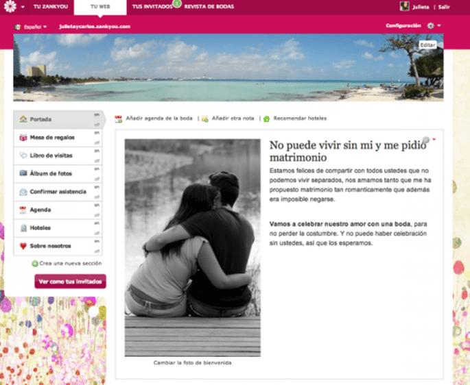 Deja un mensaje de bienvenida en tu página web de bodas Zankyou - Foto Zankyou