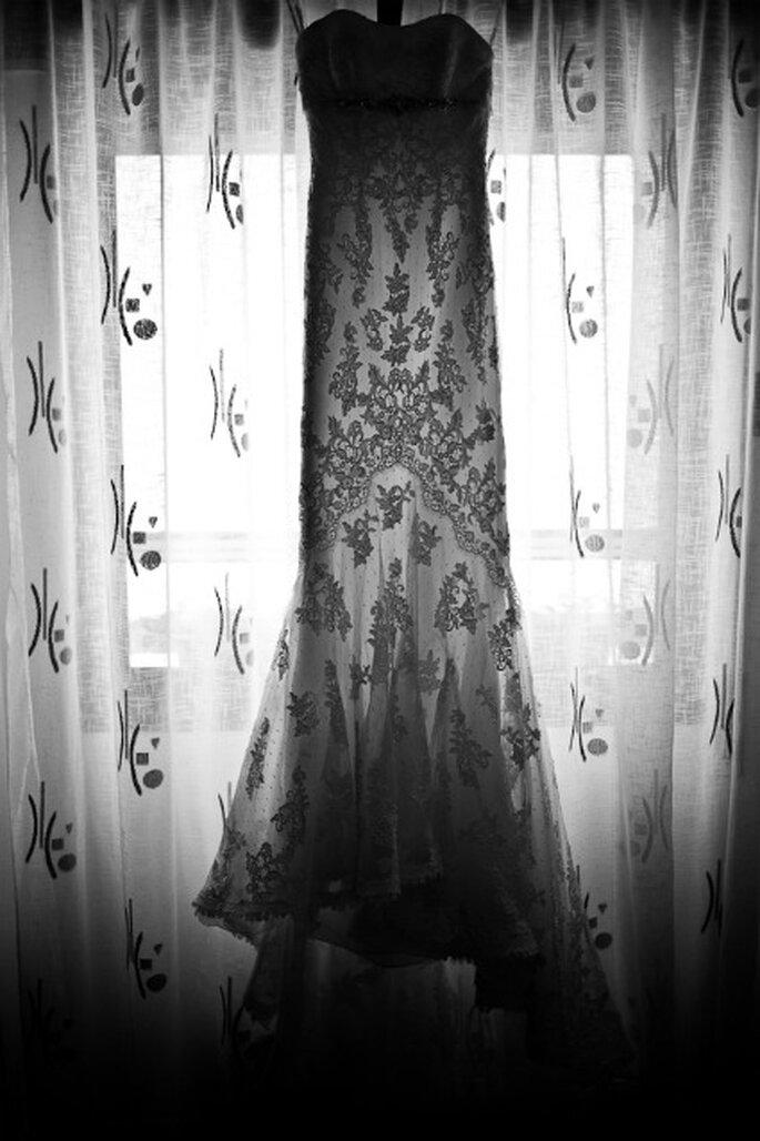 El vestido de novia de Laura- Foto: Valentín Gámiz