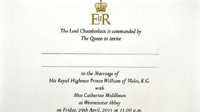 Invitación de boda terminada