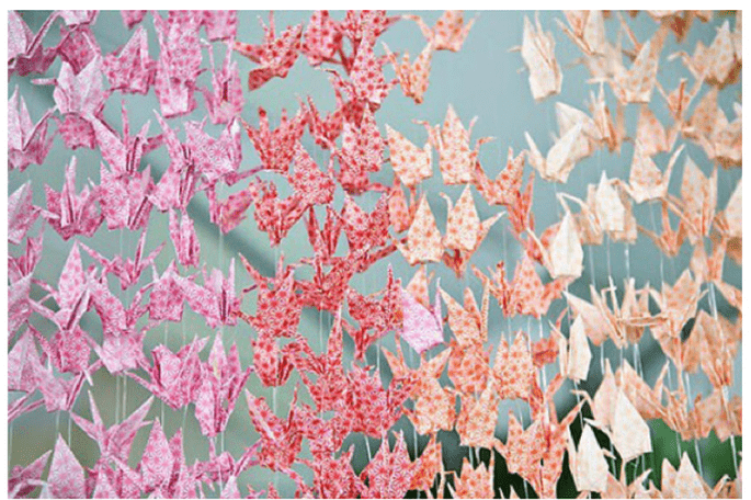 Paper decorations for your wedding - Photo: Jenny Ebert Photography