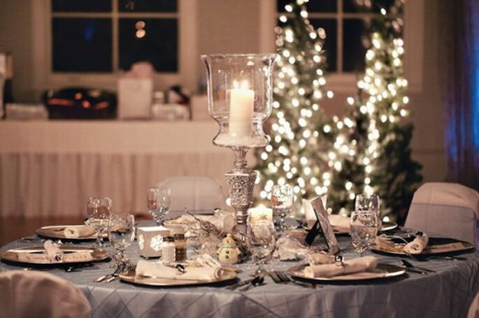 Elegante decoración de boda inspirada en Navidad - Foto Turner Creative Photography en Bridal Guide