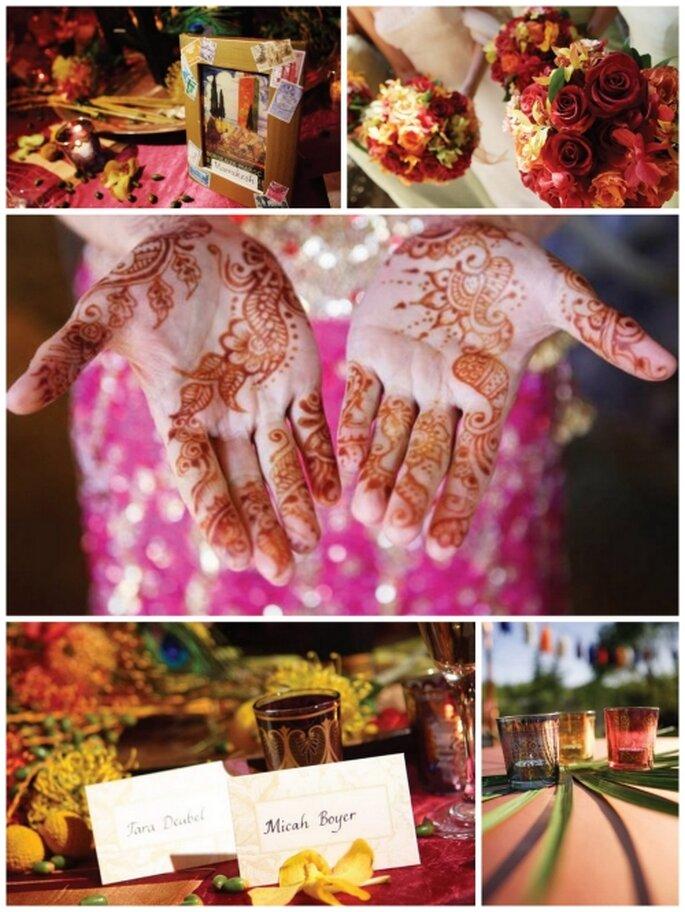 Decoración de boda estilo Marroquí. Foto Stylemepretty