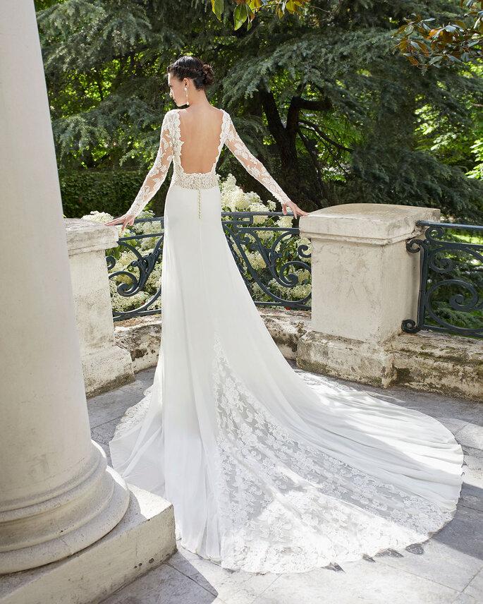 vestido de novia cola real