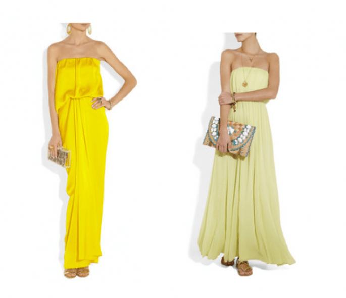 Vestidos de fiesta largos en color amarillo - Foto Net a Porter