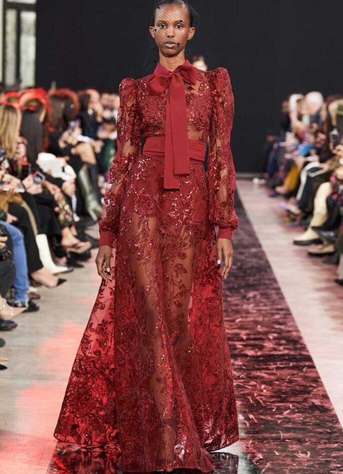 tendenze moda autunno inverno 2020/2021 abiti rossi