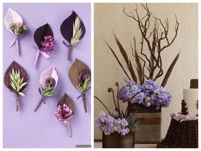 Foto links: Martha Stewart Weddings. Foto rechts: Antonis Achilleos