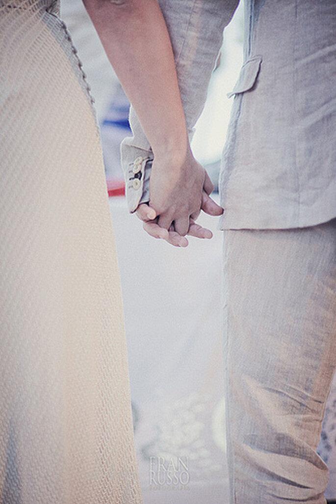 Las horas previas al casamiento pueden ser las más tensas. ¡Aprende a sobrellevar el estrés! Foto de Fran Russo