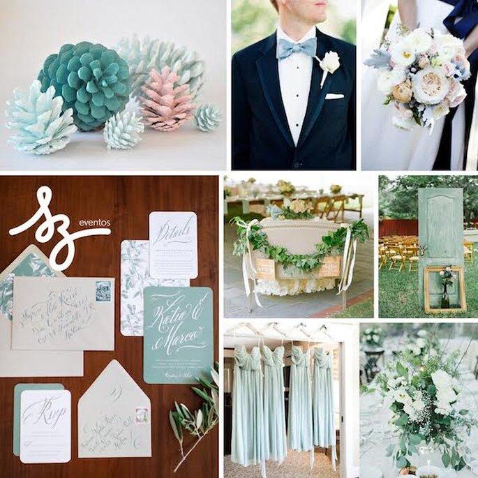 Inspiración para tu boda en azul y rosa palo - Fotos de Ryan Ray Photography, Jodi Miller Photography, Brita Photography,