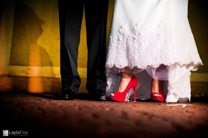 Grande tendance, les chaussures de mariée de couleur. - Photo : Layla Eloa