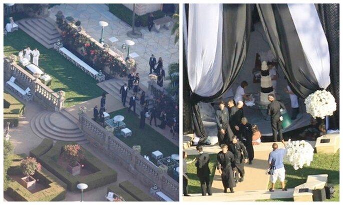 Fotos paparazzi de la boda de Kim Kardashian