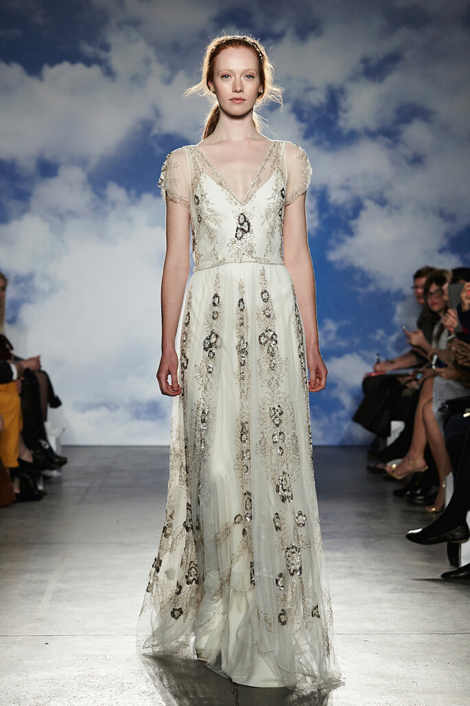 El vestido de novia ideal para las chicas de poco busto - Jenny Packham