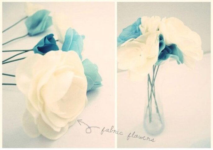 Arreglos florales. Foto de Handmade by Sara Kim.