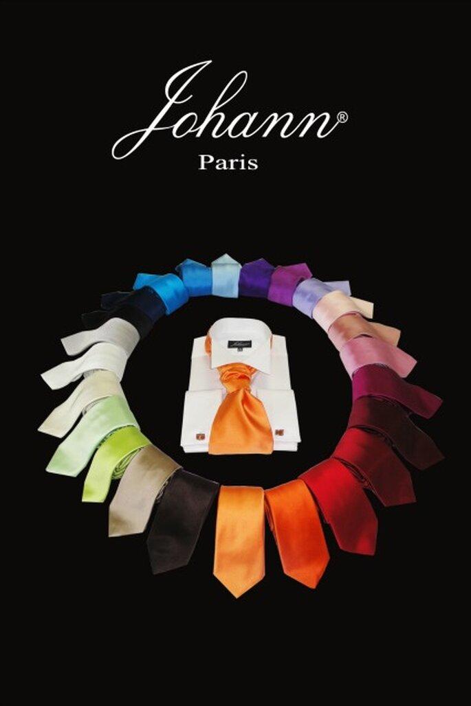 Lavallières et cravates un nuancier de couleurs incroyable - Photo : La Maison Johann