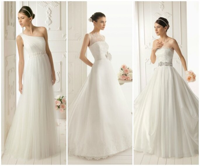 Sobri e senza tanti fronzoli, perfetti per una sposa elegante e femminile. Aire Barcelona 2013. Foto: www.airebarcelona.es