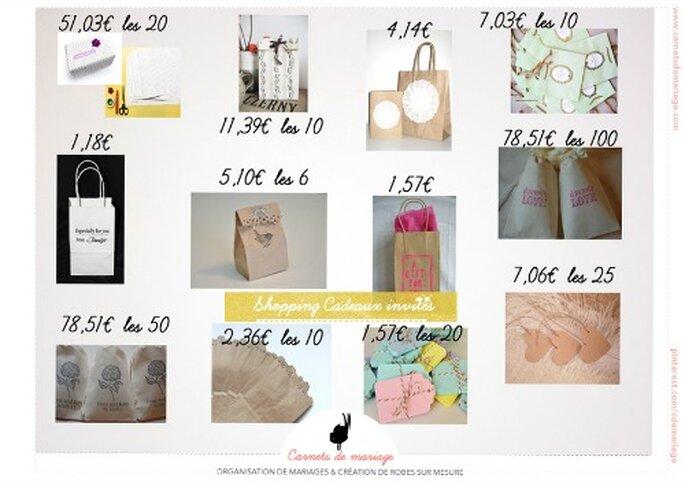 Cadeau d'invité original et pas cher - Source : idée de shopping Carnets de Mariage sur le site: www.etsy.com