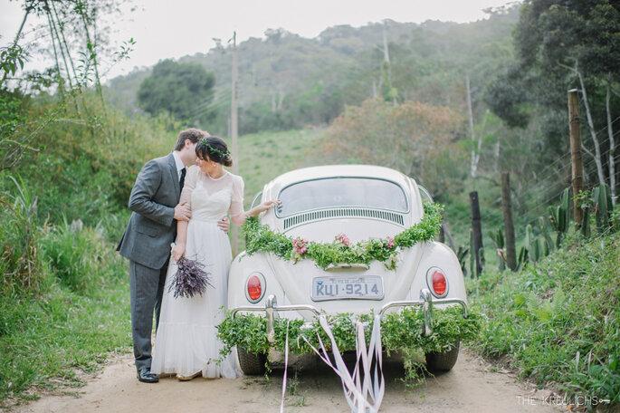Fusca em casamento