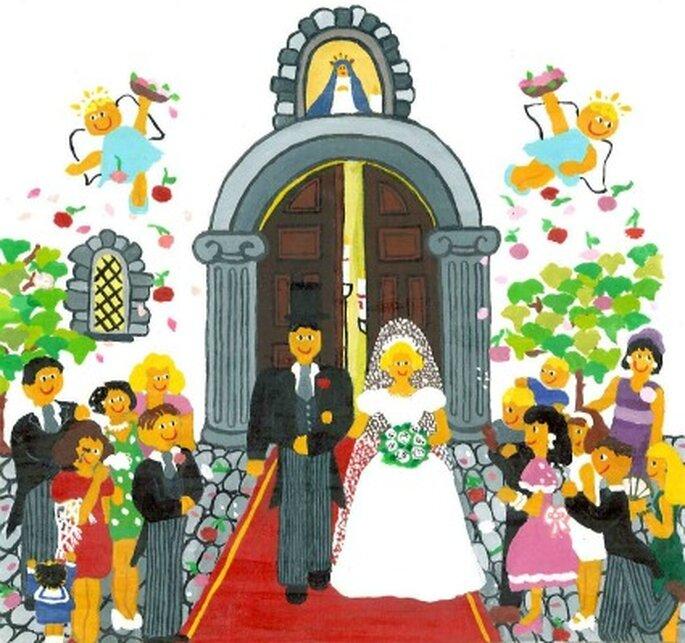 Ideas para una boda de estilo naif - Tu cuadro naif