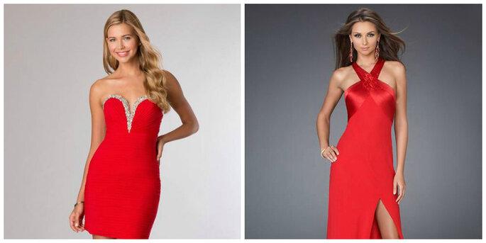 Créditos: foto izquierda de Vestido Divino/ foto derecha de Noite Boutique