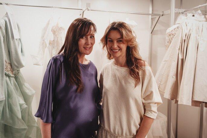 Entrevista a Isabel Zapardiez en el backstage de Gaudí Novias. Foto: Carolina Sainz Photography