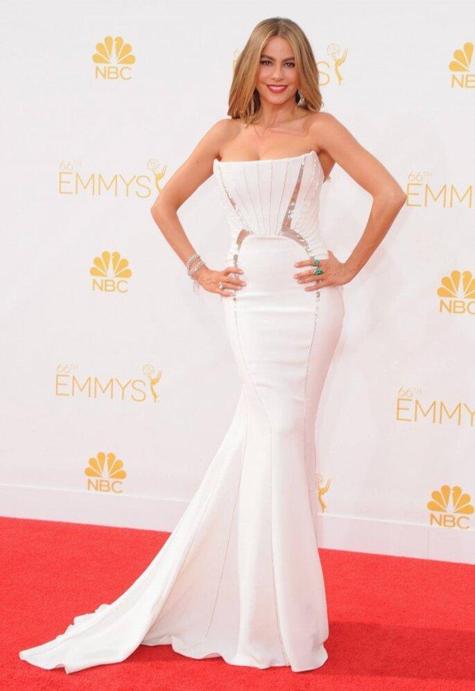 Sofia Vergara en la red carpet de los Emmys 2014 - Foto Roberto Cavalli