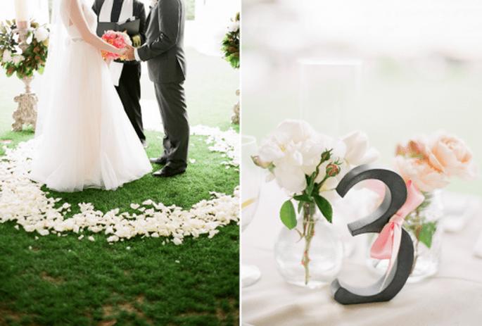 Números de mesa para tu boda. Fotografía  KT Merry