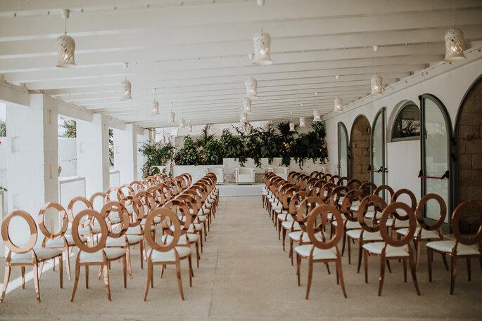 La sala della Masseria San Nicola Savelletri dove si è tenuto il nostro settimo Wedding Club - Foto: Marco Schifa Wedding Photography
