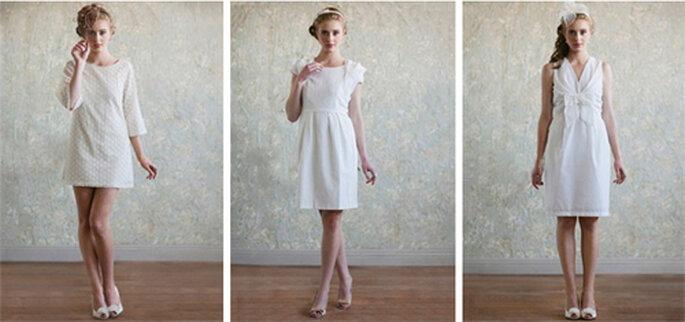 Minivestidos de novia en color blanco estilo vintage - Foto: Ruche