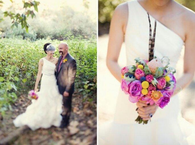 Ramos de novias coloridos - Green Wedding Shoes