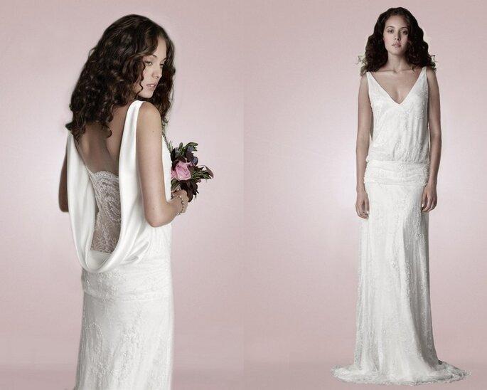 Vestido de novia 1920.2 Catroux  Beaded Lace, inspirado en la década de 1920, de Charlie Brear. Fotos: www.charliebrear.com