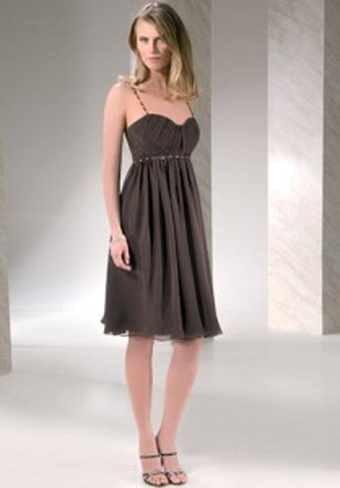 Demetrios 2009 - Robe courte en mousseline, bustier empire, bretelles très fines