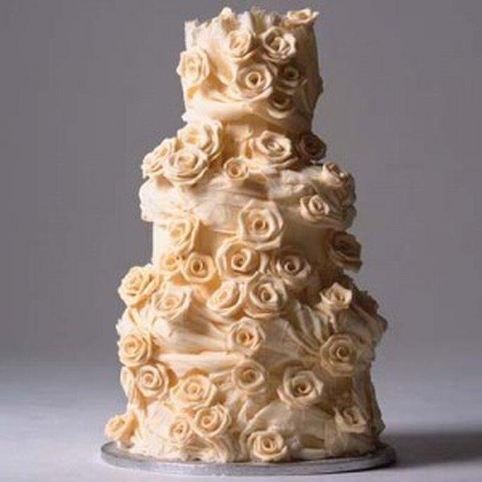Una romaniticissima torte di rose