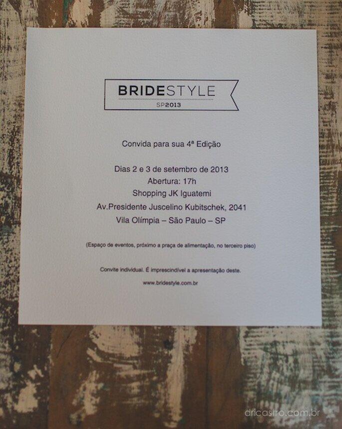 Bride Style, 2 e 3 de Setembro no Shopping JK Iguatemi. Foto - Dri Castro Fotografia
