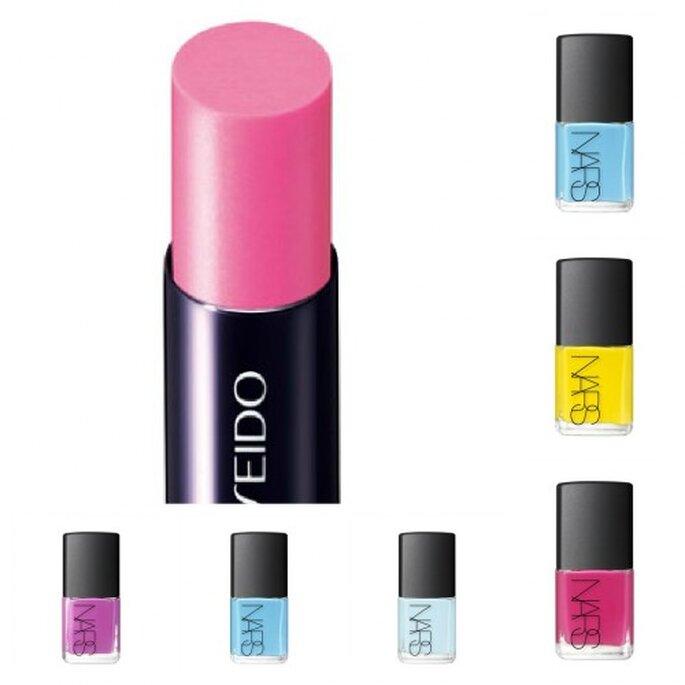 Los colores vivos son tendencia este verano para barras de labios y lacas de uñas.'Thakoon for NARS Nail Collection'. Foto: Nars