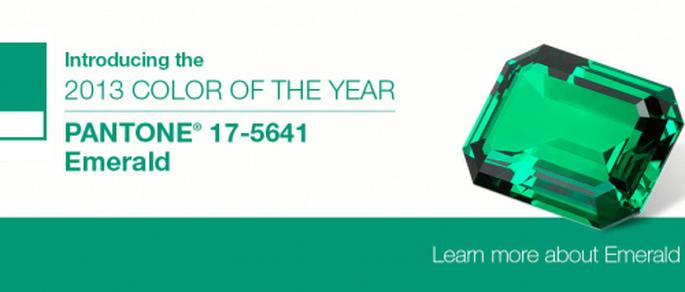 Emerald, pantone presenta el color del año 2013. Fotografía Pantone