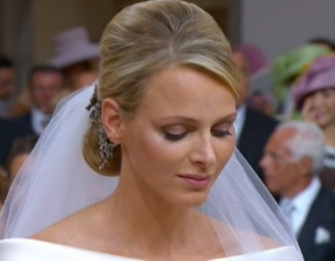 Charlene Wittstock ohne Brautschleier