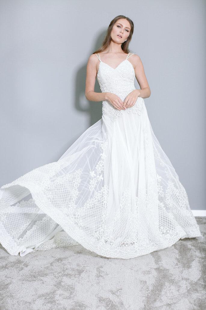 Caimento do vestido de noiva