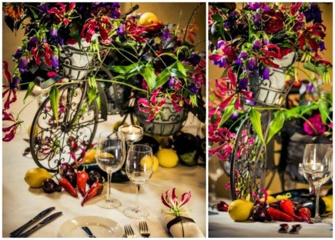 dekoracje kwiatowe na stoł