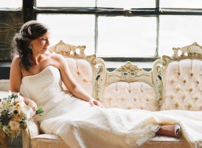 Pizzo: il tessuto preferito dalla sposa con stile femminile - Foto Jen Lynne