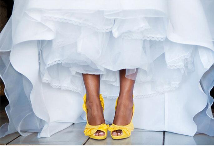 źółte buty na ślub