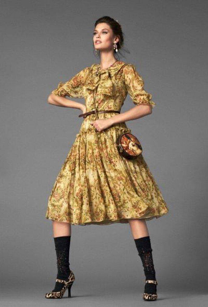 Ein Traum in Gold! Aus der neuen D&G Kollektion - Foto: Dolce Gabbana 2013 - Oficial Fan Page