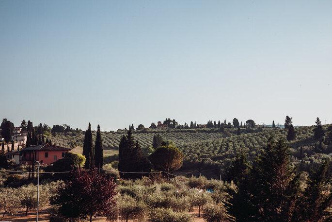 Villa Castiglione - vista Toscana