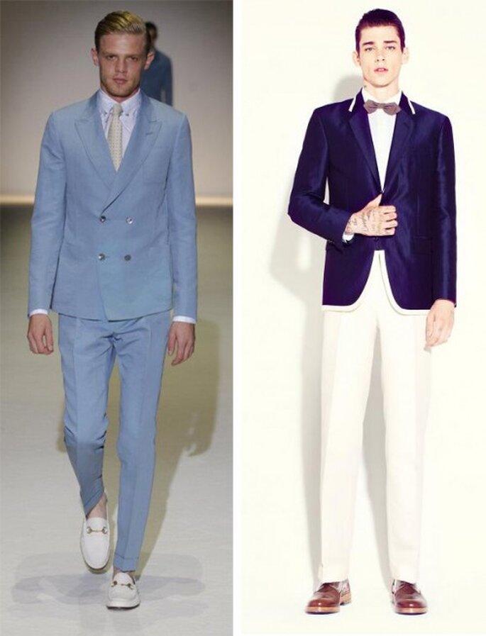 Traje masculino para una boda en la playa - Foto Gucci y Marc Jacobs en Facebook