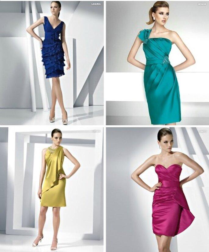 Robes de soirée - Pronovias 2012 - De droite à gauche modèles : Laguna, Honor, Lizana, Loreto
