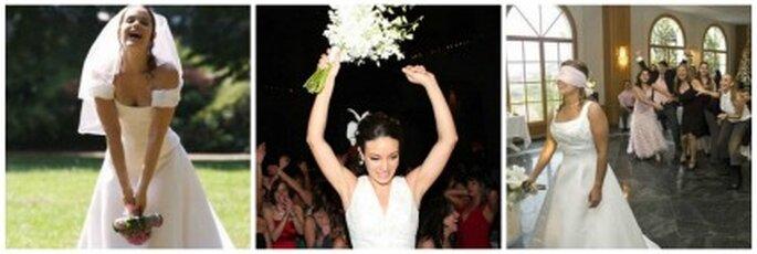 Cuando la casada lanza el ramo hacia las invitadas solteras, dice la superstición que quien lo atrape será la próxima en casarse.