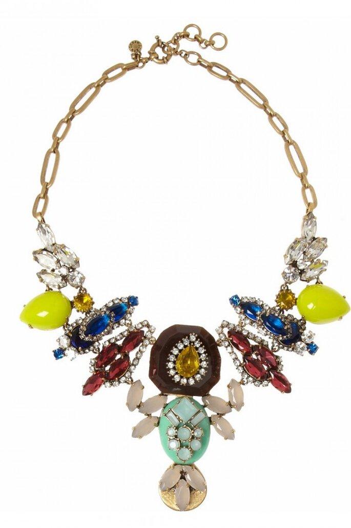 Statement necklace para novia en tendencia - Foto JCrew