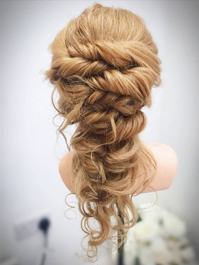 penteado de casamento trança